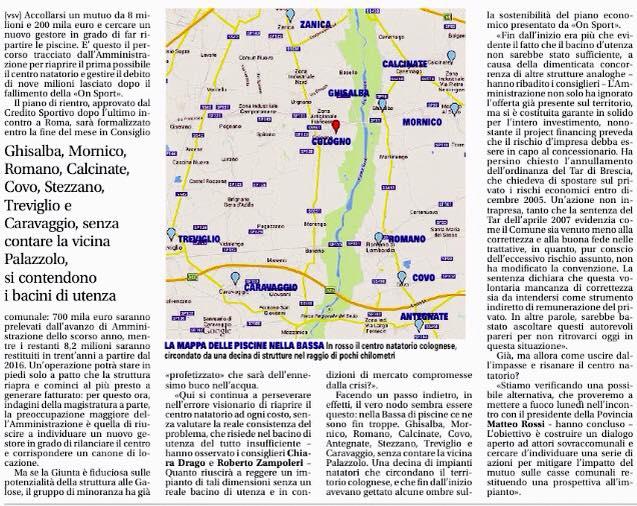 Progettocologno bacino d 39 utenza archivi progettocologno - Piscina comunale treviglio ...