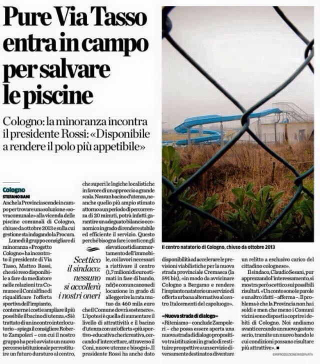 L'Eco 29 gennaio 2015