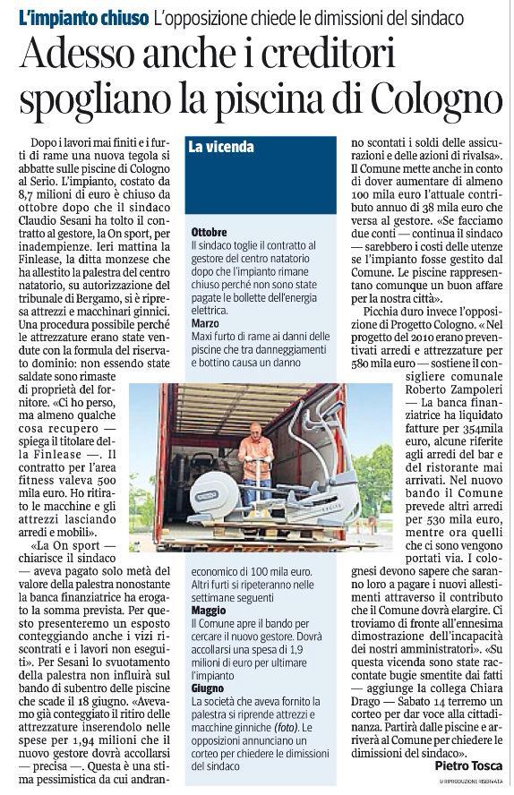 Corriere della Sera 5 giugno