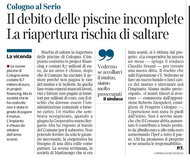 Corriere 3 ottobre