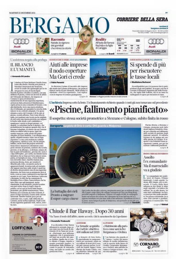 Corriere 1p 22 dicembre
