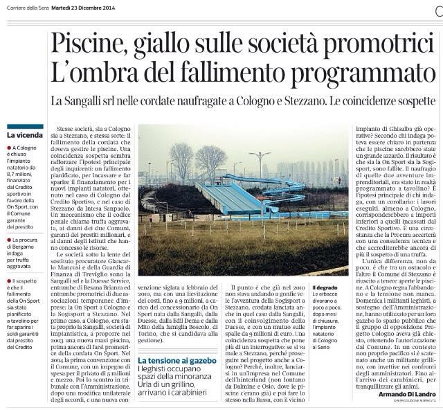 Corriere 22 dicembre
